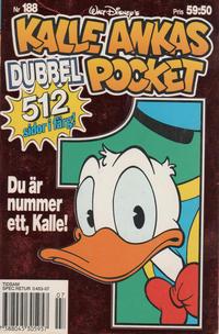Cover Thumbnail for Kalle Ankas pocket (Serieförlaget [1980-talet], 1993 series) #188 - Du är nummer ett, Kalle!