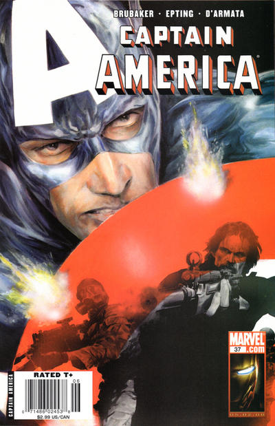 Cover for Captain America (Marvel, 2005 series) #37 [Direct Edition]