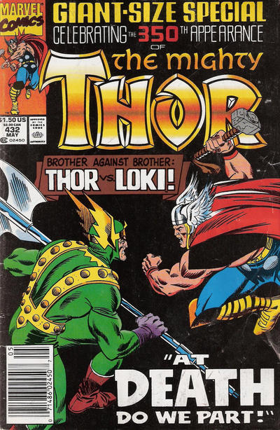 Cover for Thor (Marvel, 1966 series) #432 [Newsstand Edition]