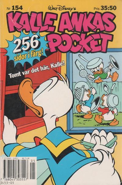 Cover for Kalle Ankas pocket (Serieförlaget [1980-talet], 1993 series) #154 - Tomt var det här, Kalle!