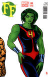 Cover for FF (Marvel, 2013 series) #5 [She-Hulk Variant Cover by Michael Allred]