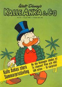 Cover Thumbnail for Kalle Anka & C:o (Hemmets Journal, 1957 series) #24/1962