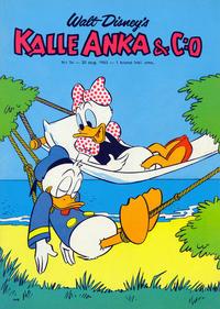 Cover Thumbnail for Kalle Anka & C:o (Hemmets Journal, 1957 series) #34/1963