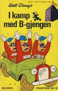 Cover Thumbnail for Donald Pocket (Hjemmet / Egmont, 1968 series) #16 - I kamp med B-gjengen [1. opplag]