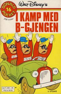 Cover Thumbnail for Donald Pocket (Hjemmet / Egmont, 1968 series) #16 - I kamp med B-gjengen [3. opplag Reutsendelse 330 28]