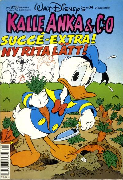 Cover for Kalle Anka & C:o (Hemmets Journal, 1957 series) #34/1989