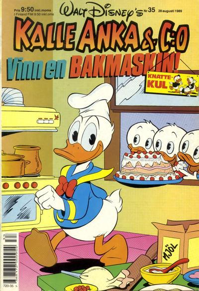 Cover for Kalle Anka & C:o (Hemmets Journal, 1957 series) #35/1989