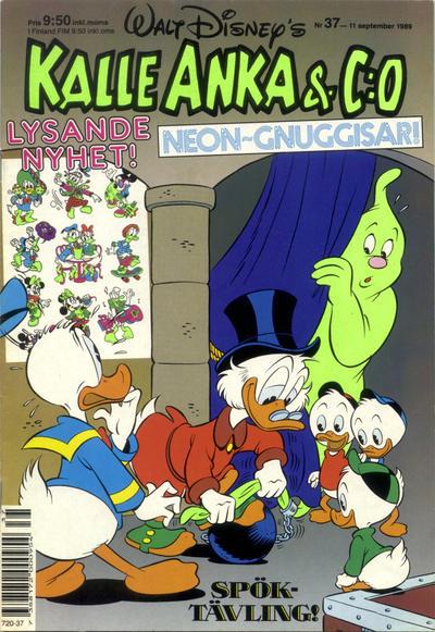 Cover for Kalle Anka & C:o (Hemmets Journal, 1957 series) #37/1989