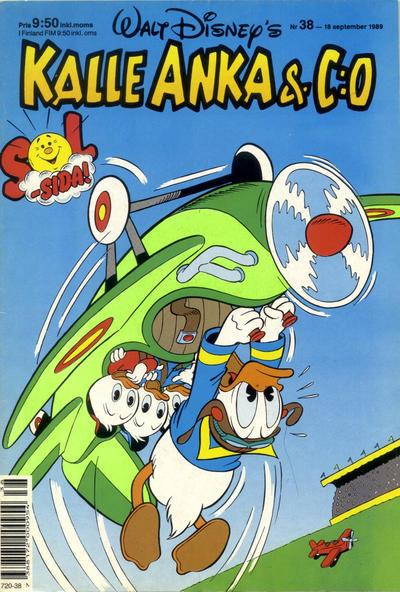 Cover for Kalle Anka & C:o (Hemmets Journal, 1957 series) #38/1989