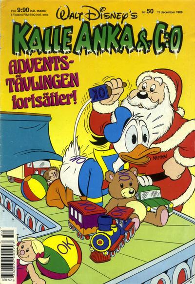 Cover for Kalle Anka & C:o (Hemmets Journal, 1957 series) #50/1989