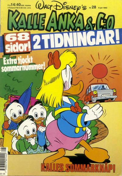 Cover for Kalle Anka & C:o (Hemmets Journal, 1957 series) #28/1990