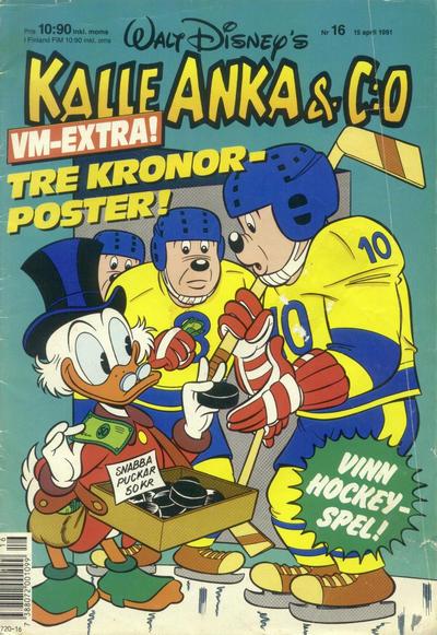 Cover for Kalle Anka & C:o (Hemmets Journal, 1957 series) #16/1991