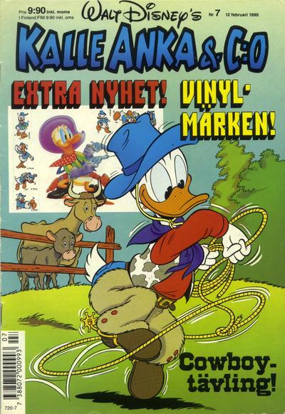 Cover for Kalle Anka & C:o (Hemmets Journal, 1957 series) #7/1990