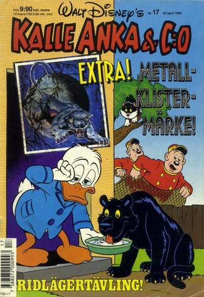 Cover for Kalle Anka & C:o (Hemmets Journal, 1957 series) #17/1990