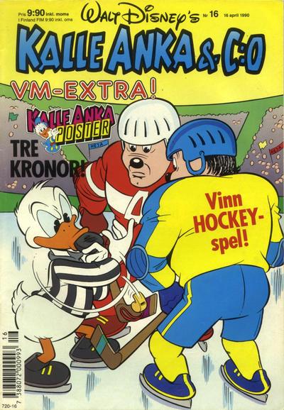 Cover for Kalle Anka & C:o (Hemmets Journal, 1957 series) #16/1990