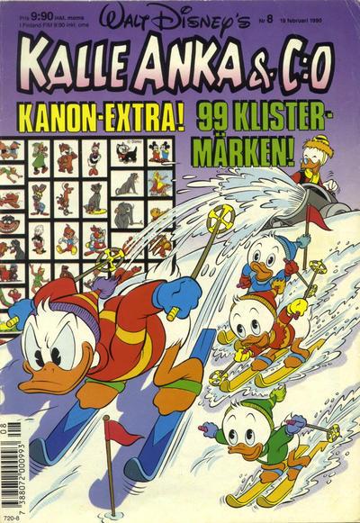 Cover for Kalle Anka & C:o (Hemmets Journal, 1957 series) #8/1990