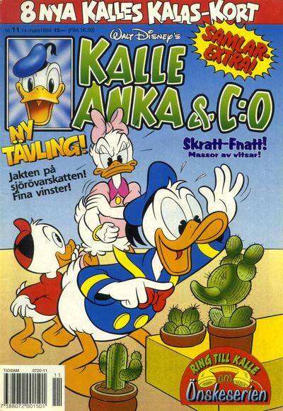 Cover for Kalle Anka & C:o (Serieförlaget [1980-talet], 1992 series) #11/1994