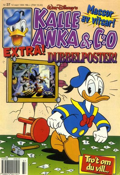 Cover for Kalle Anka & C:o (Serieförlaget [1980-talet], 1992 series) #37/1994