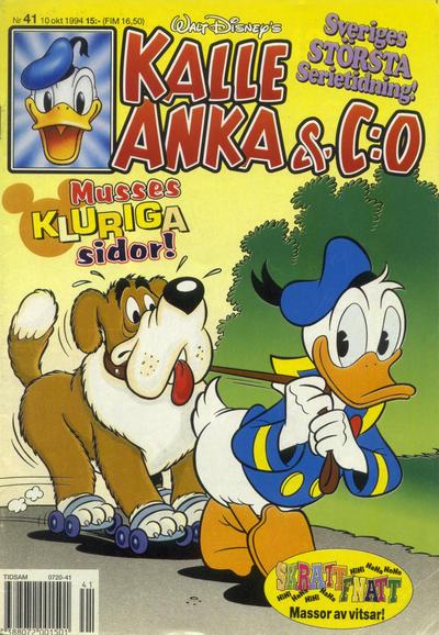 Cover for Kalle Anka & C:o (Serieförlaget [1980-talet], 1992 series) #41/1994