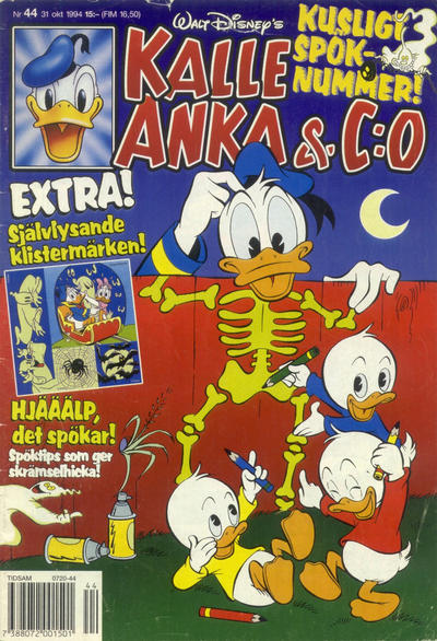 Cover for Kalle Anka & C:o (Serieförlaget [1980-talet], 1992 series) #44/1994