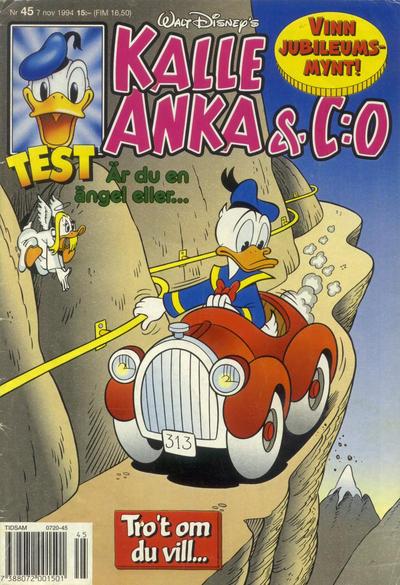 Cover for Kalle Anka & C:o (Serieförlaget [1980-talet], 1992 series) #45/1994