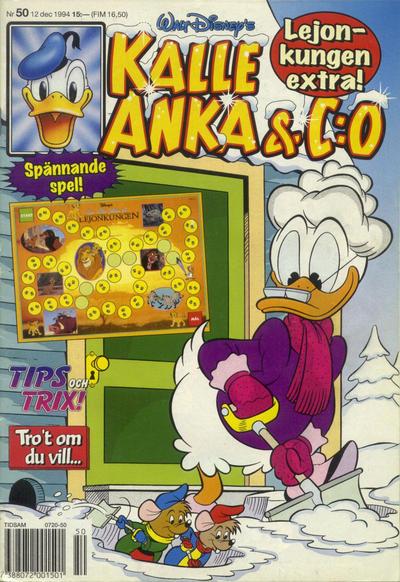 Cover for Kalle Anka & C:o (Serieförlaget [1980-talet], 1992 series) #50/1994