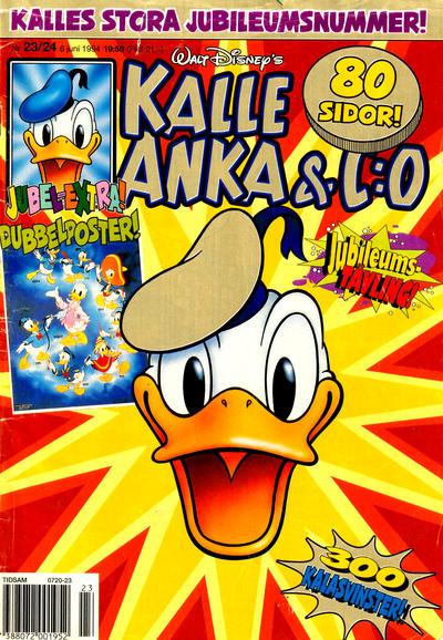 Cover for Kalle Anka & C:o (Serieförlaget [1980-talet], 1992 series) #23-24/1994