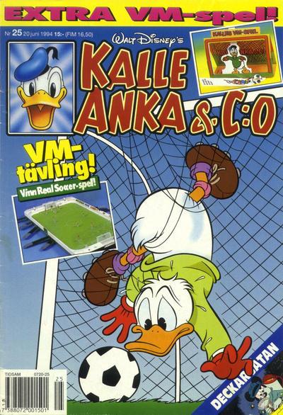 Cover for Kalle Anka & C:o (Serieförlaget [1980-talet], 1992 series) #25/1994