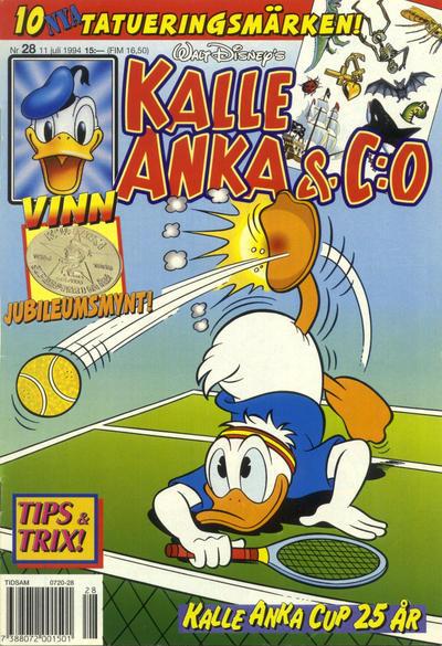 Cover for Kalle Anka & C:o (Serieförlaget [1980-talet], 1992 series) #28/1994