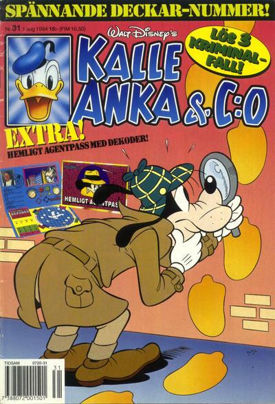Cover for Kalle Anka & C:o (Serieförlaget [1980-talet], 1992 series) #31/1994