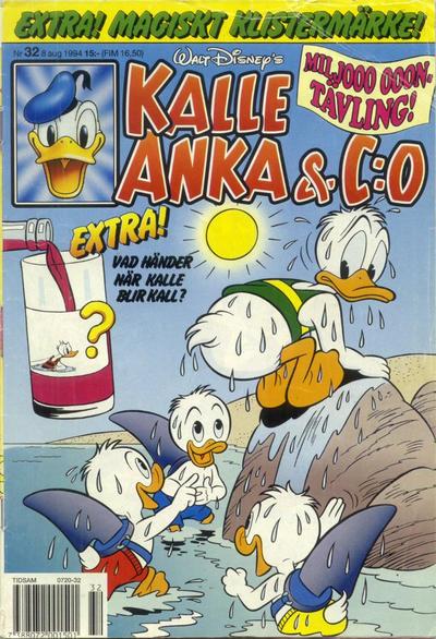 Cover for Kalle Anka & C:o (Serieförlaget [1980-talet], 1992 series) #32/1994