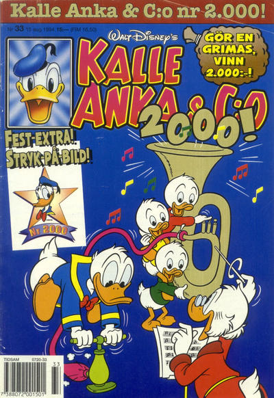 Cover for Kalle Anka & C:o (Serieförlaget [1980-talet], 1992 series) #33/1994