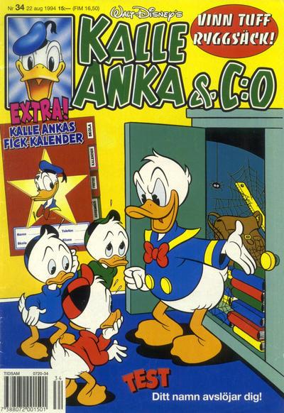 Cover for Kalle Anka & C:o (Serieförlaget [1980-talet], 1992 series) #34/1994