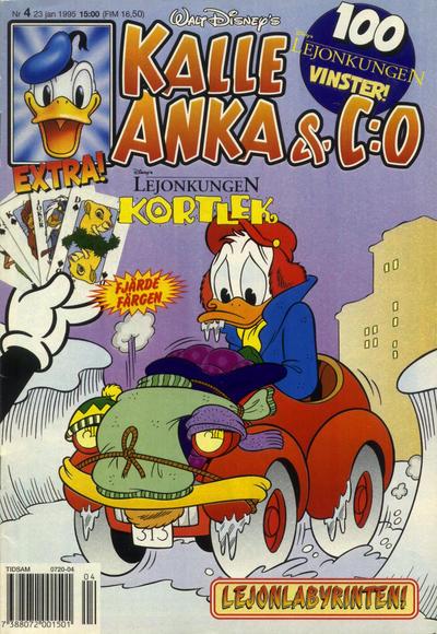 Cover for Kalle Anka & C:o (Serieförlaget [1980-talet], 1992 series) #4/1995