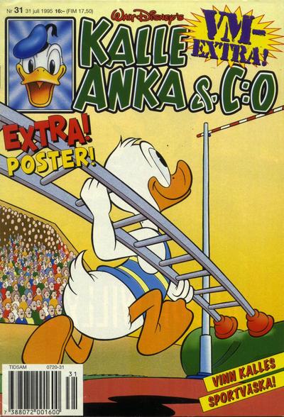 Cover for Kalle Anka & C:o (Serieförlaget [1980-talet], 1992 series) #31/1995