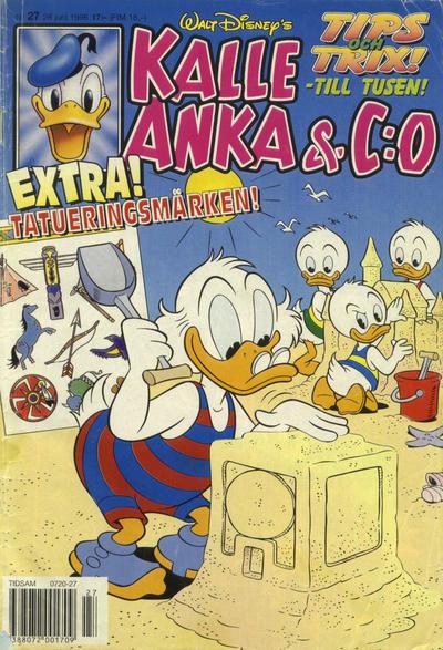 Cover for Kalle Anka & C:o (Serieförlaget [1980-talet], 1992 series) #27/1996