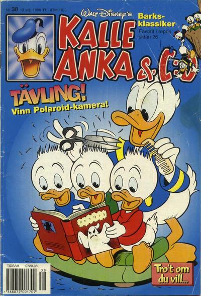 Cover for Kalle Anka & C:o (Serieförlaget [1980-talet], 1992 series) #38/1996