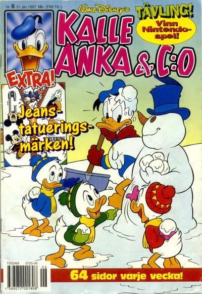 Cover for Kalle Anka & C:o (Serieförlaget [1980-talet], 1992 series) #6/1997