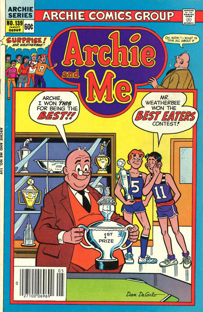Cover for Archie and Me (Archie, 1964 series) #139