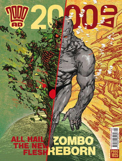 Cover for 2000 AD (Rebellion, 2001 series) #1825