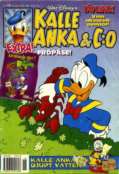 Cover for Kalle Anka & C:o (Serieförlaget [1980-talet], 1992 series) #18/1997