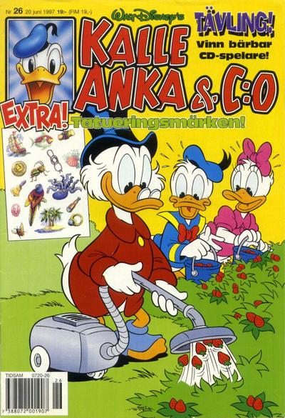 Cover for Kalle Anka & C:o (Serieförlaget [1980-talet], 1992 series) #26/1997