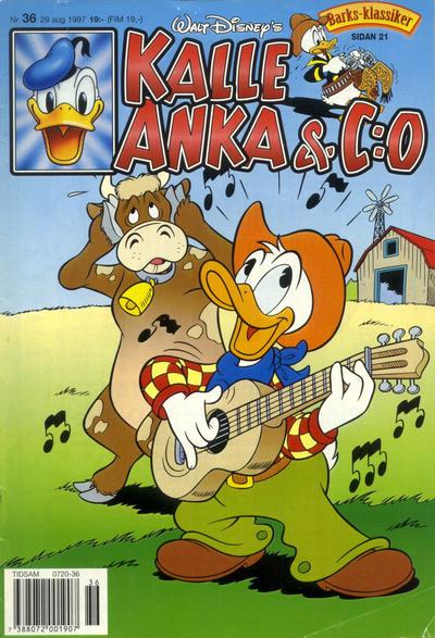 Cover for Kalle Anka & C:o (Serieförlaget [1980-talet], 1992 series) #36/1997