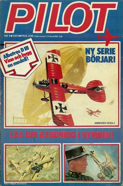 Cover for Pilot (Semic, 1970 series) #5/1974