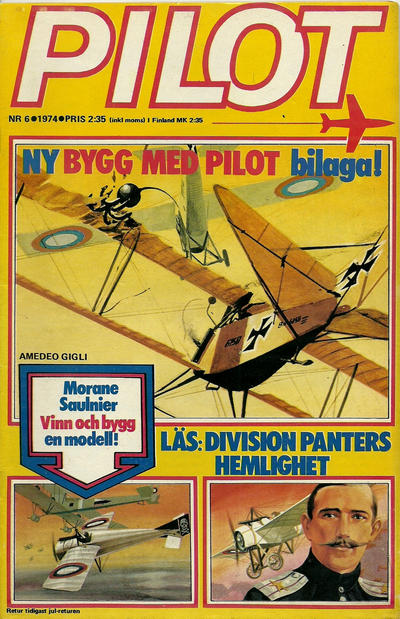 Cover for Pilot (Semic, 1970 series) #6/1974