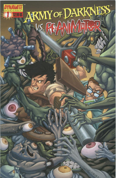 Cover for Army of Darkness vs. Re-Animator (Dynamite Entertainment, 2005 series) #1 [Cover A Nick Bradshaw]