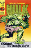 Cover for Hulk (Semic, 1984 series) #10/1984