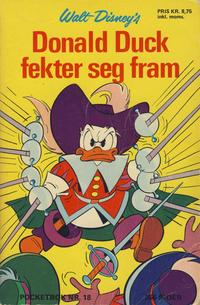 Cover Thumbnail for Donald Pocket (Hjemmet / Egmont, 1968 series) #18 - Donald Duck fekter seg fram [1. opplag]