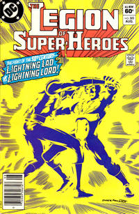 Cover Thumbnail for The Legion of Super-Heroes (DC, 1980 series) #302 [Newsstand]