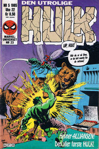Cover Thumbnail for Hulk (Semic, 1984 series) #5/1985